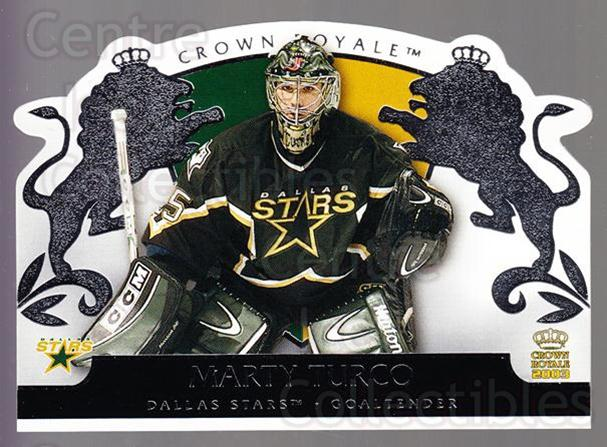 2002-03 Crown Royale Retail #31 Marty Turco<br/>2 In Stock - $1.00 each - <a href=https://centericecollectibles.foxycart.com/cart?name=2002-03%20Crown%20Royale%20Retail%20%2331%20Marty%20Turco...&quantity_max=2&price=$1.00&code=431342 class=foxycart> Buy it now! </a>