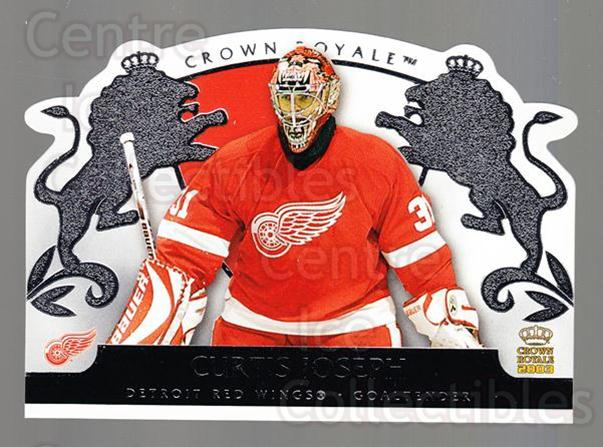 2002-03 Crown Royale Retail #34 Curtis Joseph<br/>3 In Stock - $2.00 each - <a href=https://centericecollectibles.foxycart.com/cart?name=2002-03%20Crown%20Royale%20Retail%20%2334%20Curtis%20Joseph...&quantity_max=3&price=$2.00&code=431343 class=foxycart> Buy it now! </a>