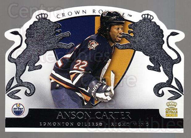 2002-03 Crown Royale Retail #38 Anson Carter<br/>3 In Stock - $1.00 each - <a href=https://centericecollectibles.foxycart.com/cart?name=2002-03%20Crown%20Royale%20Retail%20%2338%20Anson%20Carter...&quantity_max=3&price=$1.00&code=431345 class=foxycart> Buy it now! </a>