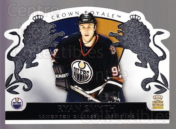 2002-03 Crown Royale Retail #41 Ryan Smyth<br/>3 In Stock - $1.00 each - <a href=https://centericecollectibles.foxycart.com/cart?name=2002-03%20Crown%20Royale%20Retail%20%2341%20Ryan%20Smyth...&quantity_max=3&price=$1.00&code=431349 class=foxycart> Buy it now! </a>