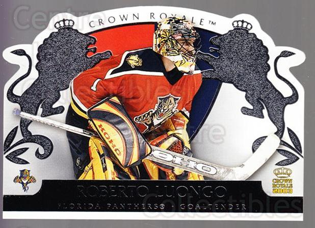2002-03 Crown Royale Retail #43 Roberto Luongo<br/>2 In Stock - $2.00 each - <a href=https://centericecollectibles.foxycart.com/cart?name=2002-03%20Crown%20Royale%20Retail%20%2343%20Roberto%20Luongo...&quantity_max=2&price=$2.00&code=431351 class=foxycart> Buy it now! </a>