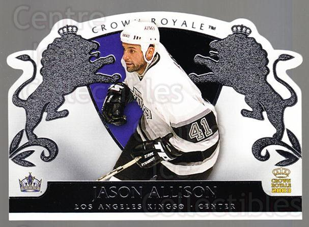 2002-03 Crown Royale Retail #44 Jason Allison<br/>2 In Stock - $1.00 each - <a href=https://centericecollectibles.foxycart.com/cart?name=2002-03%20Crown%20Royale%20Retail%20%2344%20Jason%20Allison...&quantity_max=2&price=$1.00&code=431352 class=foxycart> Buy it now! </a>