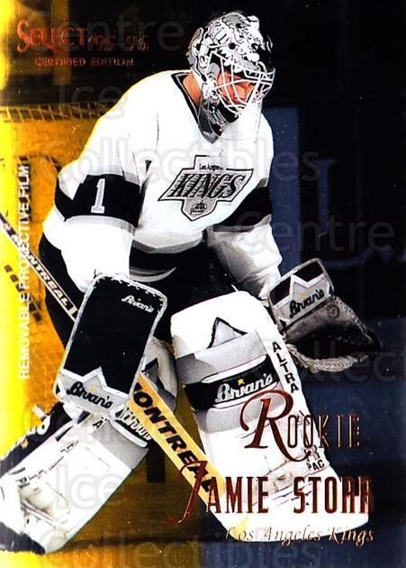 1995-96 Select Certified #136 Jamie Storr<br/>5 In Stock - $1.00 each - <a href=https://centericecollectibles.foxycart.com/cart?name=1995-96%20Select%20Certified%20%23136%20Jamie%20Storr...&quantity_max=5&price=$1.00&code=43136 class=foxycart> Buy it now! </a>
