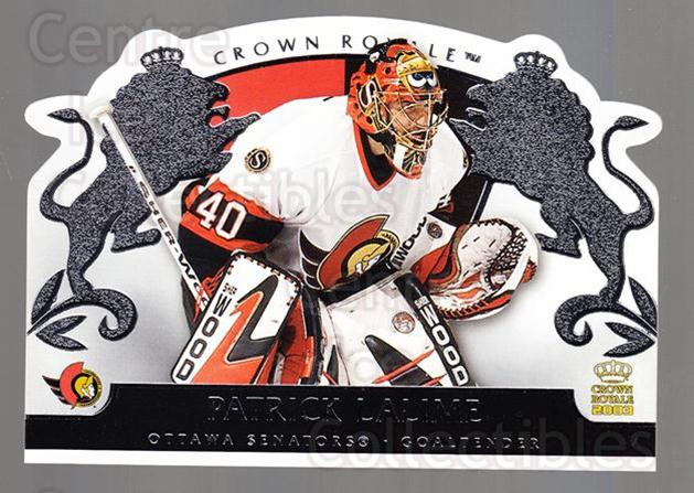 2002-03 Crown Royale Retail #68 Patrick Lalime<br/>1 In Stock - $1.00 each - <a href=https://centericecollectibles.foxycart.com/cart?name=2002-03%20Crown%20Royale%20Retail%20%2368%20Patrick%20Lalime...&quantity_max=1&price=$1.00&code=431376 class=foxycart> Buy it now! </a>