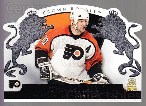 2002-03 Crown Royale Retail #71 John LeClair<br/>3 In Stock - $1.00 each - <a href=https://centericecollectibles.foxycart.com/cart?name=2002-03%20Crown%20Royale%20Retail%20%2371%20John%20LeClair...&quantity_max=3&price=$1.00&code=431380 class=foxycart> Buy it now! </a>