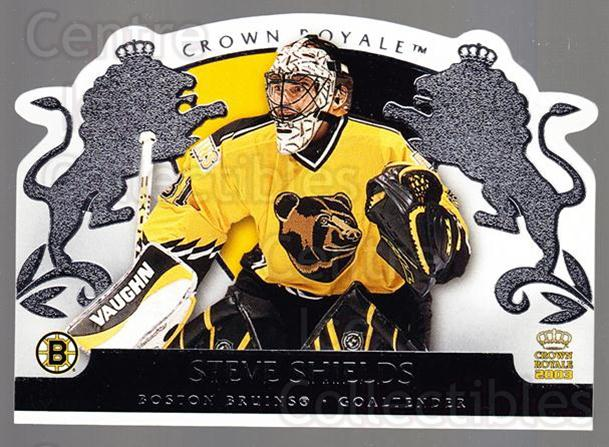 2002-03 Crown Royale Retail #8 Steve Shields<br/>3 In Stock - $1.00 each - <a href=https://centericecollectibles.foxycart.com/cart?name=2002-03%20Crown%20Royale%20Retail%20%238%20Steve%20Shields...&quantity_max=3&price=$1.00&code=431388 class=foxycart> Buy it now! </a>