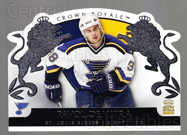2002-03 Crown Royale Retail #80 Pavol Demitra<br/>1 In Stock - $1.00 each - <a href=https://centericecollectibles.foxycart.com/cart?name=2002-03%20Crown%20Royale%20Retail%20%2380%20Pavol%20Demitra...&quantity_max=1&price=$1.00&code=431389 class=foxycart> Buy it now! </a>