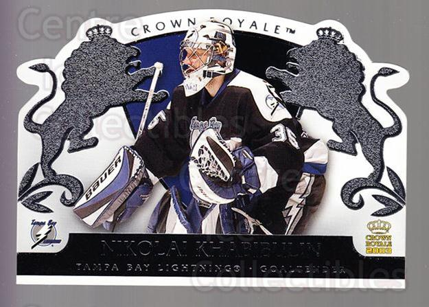 2002-03 Crown Royale Retail #87 Nikolai Khabibulin<br/>2 In Stock - $1.00 each - <a href=https://centericecollectibles.foxycart.com/cart?name=2002-03%20Crown%20Royale%20Retail%20%2387%20Nikolai%20Khabibu...&quantity_max=2&price=$1.00&code=431395 class=foxycart> Buy it now! </a>