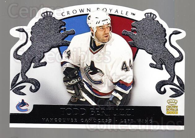 2002-03 Crown Royale Retail #94 Todd Bertuzzi<br/>3 In Stock - $1.00 each - <a href=https://centericecollectibles.foxycart.com/cart?name=2002-03%20Crown%20Royale%20Retail%20%2394%20Todd%20Bertuzzi...&quantity_max=3&price=$1.00&code=431403 class=foxycart> Buy it now! </a>