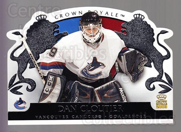 2002-03 Crown Royale Retail #95 Dan Cloutier<br/>3 In Stock - $1.00 each - <a href=https://centericecollectibles.foxycart.com/cart?name=2002-03%20Crown%20Royale%20Retail%20%2395%20Dan%20Cloutier...&quantity_max=3&price=$1.00&code=431404 class=foxycart> Buy it now! </a>