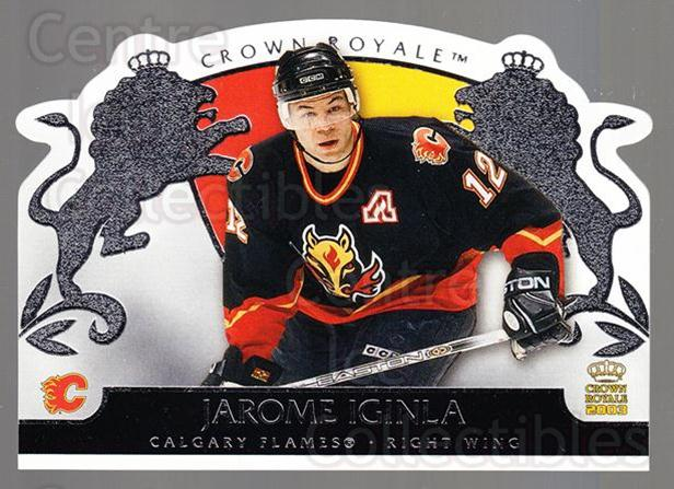 2002-03 Crown Royale Retail #14 Jarome Iginla<br/>2 In Stock - $2.00 each - <a href=https://centericecollectibles.foxycart.com/cart?name=2002-03%20Crown%20Royale%20Retail%20%2314%20Jarome%20Iginla...&quantity_max=2&price=$2.00&code=431409 class=foxycart> Buy it now! </a>
