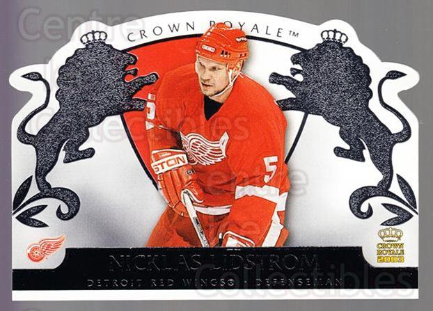 2002-03 Crown Royale Retail #35 Nicklas Lidstrom<br/>1 In Stock - $2.00 each - <a href=https://centericecollectibles.foxycart.com/cart?name=2002-03%20Crown%20Royale%20Retail%20%2335%20Nicklas%20Lidstro...&quantity_max=1&price=$2.00&code=431415 class=foxycart> Buy it now! </a>