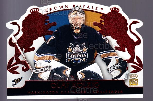 2002-03 Crown Royale Red #100 Olaf Kolzig<br/>3 In Stock - $3.00 each - <a href=https://centericecollectibles.foxycart.com/cart?name=2002-03%20Crown%20Royale%20Red%20%23100%20Olaf%20Kolzig...&quantity_max=3&price=$3.00&code=431426 class=foxycart> Buy it now! </a>