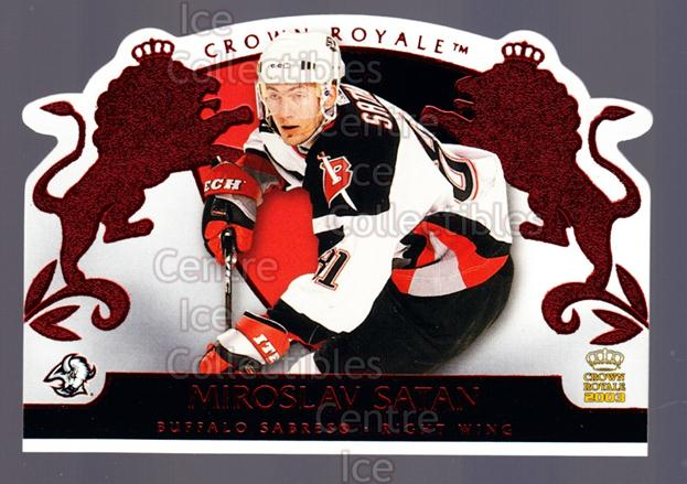 2002-03 Crown Royale Red #12 Miroslav Satan<br/>2 In Stock - $3.00 each - <a href=https://centericecollectibles.foxycart.com/cart?name=2002-03%20Crown%20Royale%20Red%20%2312%20Miroslav%20Satan...&quantity_max=2&price=$3.00&code=431444 class=foxycart> Buy it now! </a>