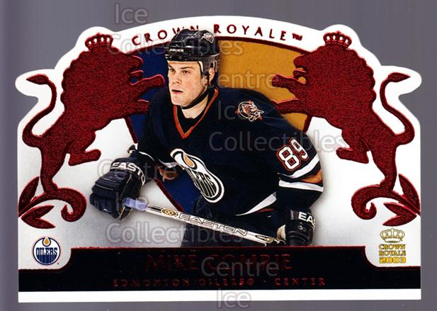 2002-03 Crown Royale Red #39 Mike Comrie<br/>2 In Stock - $3.00 each - <a href=https://centericecollectibles.foxycart.com/cart?name=2002-03%20Crown%20Royale%20Red%20%2339%20Mike%20Comrie...&quantity_max=2&price=$3.00&code=431486 class=foxycart> Buy it now! </a>