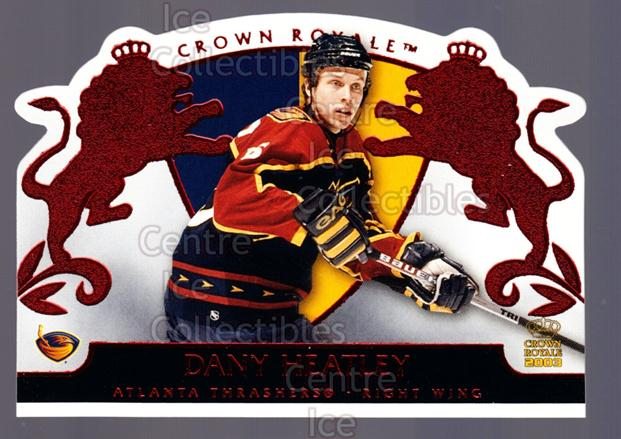 2002-03 Crown Royale Red #4 Dany Heatley<br/>3 In Stock - $3.00 each - <a href=https://centericecollectibles.foxycart.com/cart?name=2002-03%20Crown%20Royale%20Red%20%234%20Dany%20Heatley...&quantity_max=3&price=$3.00&code=431487 class=foxycart> Buy it now! </a>