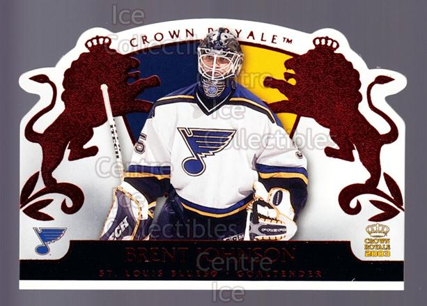 2002-03 Crown Royale Red #81 Brent Johnson<br/>3 In Stock - $3.00 each - <a href=https://centericecollectibles.foxycart.com/cart?name=2002-03%20Crown%20Royale%20Red%20%2381%20Brent%20Johnson...&quantity_max=3&price=$3.00&code=431530 class=foxycart> Buy it now! </a>