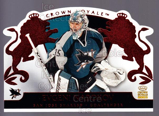 2002-03 Crown Royale Red #85 Evgeni Nabokov<br/>3 In Stock - $3.00 each - <a href=https://centericecollectibles.foxycart.com/cart?name=2002-03%20Crown%20Royale%20Red%20%2385%20Evgeni%20Nabokov...&quantity_max=3&price=$3.00&code=431534 class=foxycart> Buy it now! </a>