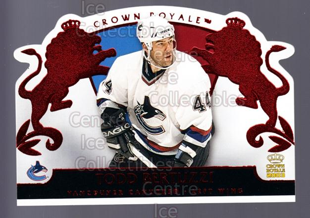2002-03 Crown Royale Red #94 Todd Bertuzzi<br/>3 In Stock - $3.00 each - <a href=https://centericecollectibles.foxycart.com/cart?name=2002-03%20Crown%20Royale%20Red%20%2394%20Todd%20Bertuzzi...&quantity_max=3&price=$3.00&code=431543 class=foxycart> Buy it now! </a>