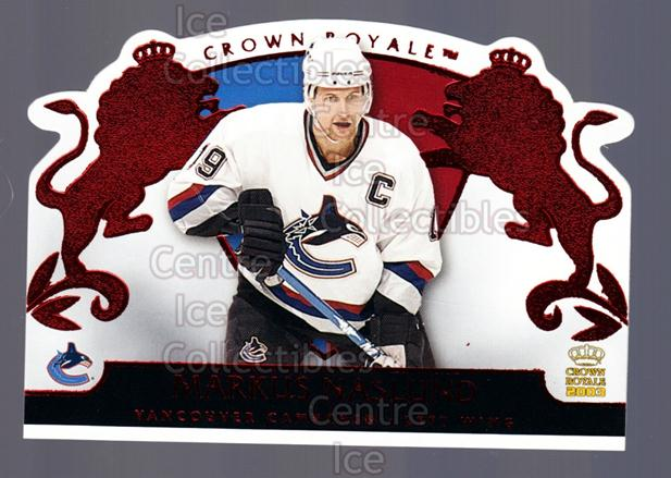 2002-03 Crown Royale Red #97 Markus Naslund<br/>2 In Stock - $3.00 each - <a href=https://centericecollectibles.foxycart.com/cart?name=2002-03%20Crown%20Royale%20Red%20%2397%20Markus%20Naslund...&quantity_max=2&price=$3.00&code=431546 class=foxycart> Buy it now! </a>