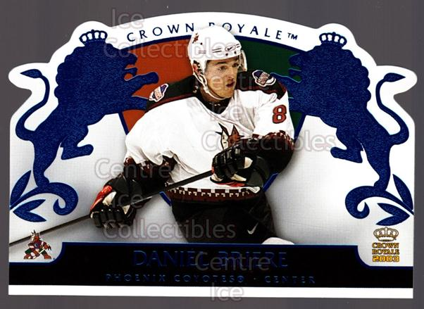 2002-03 Crown Royale Blue #74 Daniel Briere<br/>2 In Stock - $3.00 each - <a href=https://centericecollectibles.foxycart.com/cart?name=2002-03%20Crown%20Royale%20Blue%20%2374%20Daniel%20Briere...&quantity_max=2&price=$3.00&code=431578 class=foxycart> Buy it now! </a>