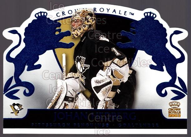 2002-03 Crown Royale Blue #76 Johan Hedberg<br/>2 In Stock - $3.00 each - <a href=https://centericecollectibles.foxycart.com/cart?name=2002-03%20Crown%20Royale%20Blue%20%2376%20Johan%20Hedberg...&quantity_max=2&price=$3.00&code=431580 class=foxycart> Buy it now! </a>