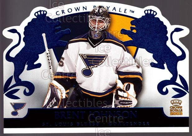 2002-03 Crown Royale Blue #81 Brent Johnson<br/>2 In Stock - $3.00 each - <a href=https://centericecollectibles.foxycart.com/cart?name=2002-03%20Crown%20Royale%20Blue%20%2381%20Brent%20Johnson...&quantity_max=2&price=$3.00&code=431585 class=foxycart> Buy it now! </a>