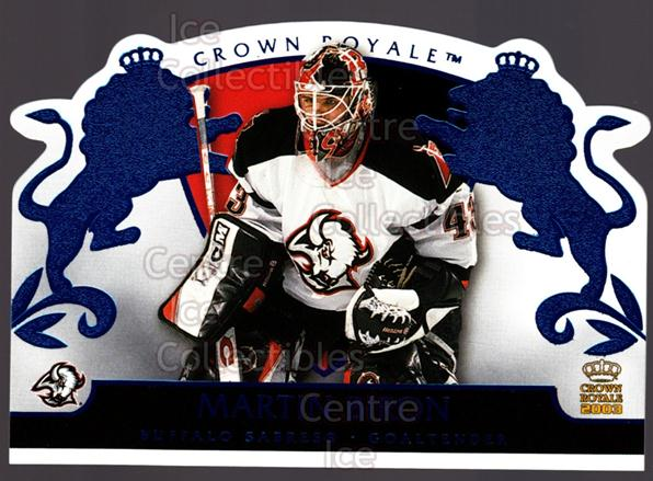 2002-03 Crown Royale Blue #10 Martin Biron<br/>2 In Stock - $3.00 each - <a href=https://centericecollectibles.foxycart.com/cart?name=2002-03%20Crown%20Royale%20Blue%20%2310%20Martin%20Biron...&quantity_max=2&price=$3.00&code=431620 class=foxycart> Buy it now! </a>