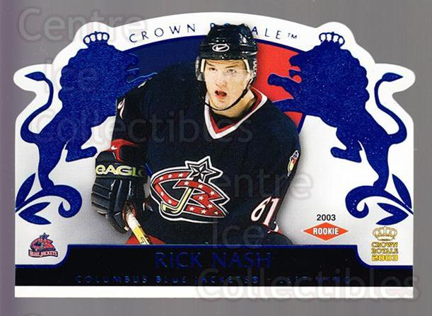 2002-03 Crown Royale Blue #109 Rick Nash<br/>1 In Stock - $10.00 each - <a href=https://centericecollectibles.foxycart.com/cart?name=2002-03%20Crown%20Royale%20Blue%20%23109%20Rick%20Nash...&quantity_max=1&price=$10.00&code=431628 class=foxycart> Buy it now! </a>