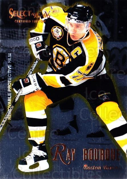 1995-96 Select Certified #34 Ray Bourque<br/>5 In Stock - $1.00 each - <a href=https://centericecollectibles.foxycart.com/cart?name=1995-96%20Select%20Certified%20%2334%20Ray%20Bourque...&quantity_max=5&price=$1.00&code=43163 class=foxycart> Buy it now! </a>