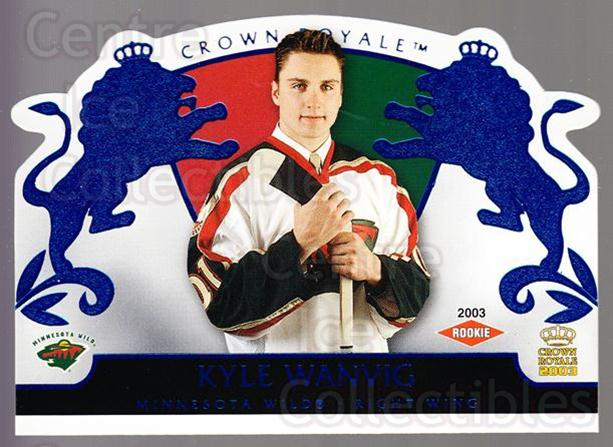 2002-03 Crown Royale Blue #121 Kyle Wanvig<br/>1 In Stock - $5.00 each - <a href=https://centericecollectibles.foxycart.com/cart?name=2002-03%20Crown%20Royale%20Blue%20%23121%20Kyle%20Wanvig...&quantity_max=1&price=$5.00&code=431641 class=foxycart> Buy it now! </a>