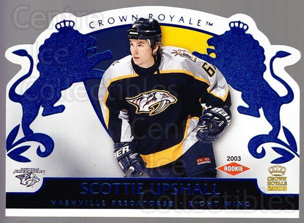 2002-03 Crown Royale Blue #125 Scottie Upshall<br/>1 In Stock - $5.00 each - <a href=https://centericecollectibles.foxycart.com/cart?name=2002-03%20Crown%20Royale%20Blue%20%23125%20Scottie%20Upshall...&quantity_max=1&price=$5.00&code=431645 class=foxycart> Buy it now! </a>