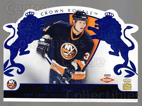 2002-03 Crown Royale Blue #126 Ray Schultz<br/>1 In Stock - $5.00 each - <a href=https://centericecollectibles.foxycart.com/cart?name=2002-03%20Crown%20Royale%20Blue%20%23126%20Ray%20Schultz...&quantity_max=1&price=$5.00&code=431646 class=foxycart> Buy it now! </a>