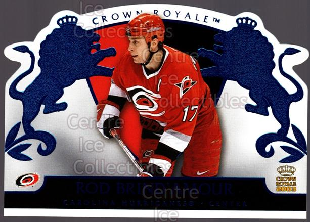 2002-03 Crown Royale Blue #16 Rod Brind'Amour<br/>2 In Stock - $3.00 each - <a href=https://centericecollectibles.foxycart.com/cart?name=2002-03%20Crown%20Royale%20Blue%20%2316%20Rod%20Brind'Amour...&quantity_max=2&price=$3.00&code=431663 class=foxycart> Buy it now! </a>