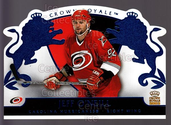 2002-03 Crown Royale Blue #19 Jeff O'Neill<br/>2 In Stock - $3.00 each - <a href=https://centericecollectibles.foxycart.com/cart?name=2002-03%20Crown%20Royale%20Blue%20%2319%20Jeff%20O'Neill...&quantity_max=2&price=$3.00&code=431666 class=foxycart> Buy it now! </a>