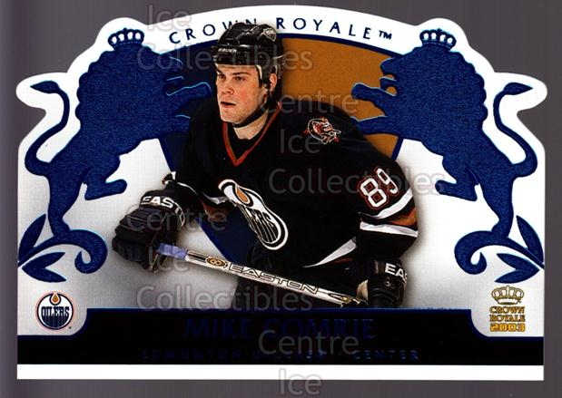 2002-03 Crown Royale Blue #39 Mike Comrie<br/>2 In Stock - $3.00 each - <a href=https://centericecollectibles.foxycart.com/cart?name=2002-03%20Crown%20Royale%20Blue%20%2339%20Mike%20Comrie...&quantity_max=2&price=$3.00&code=431681 class=foxycart> Buy it now! </a>