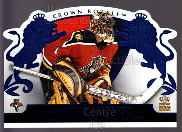 2002-03 Crown Royale Blue #43 Roberto Luongo<br/>2 In Stock - $3.00 each - <a href=https://centericecollectibles.foxycart.com/cart?name=2002-03%20Crown%20Royale%20Blue%20%2343%20Roberto%20Luongo...&quantity_max=2&price=$3.00&code=431686 class=foxycart> Buy it now! </a>