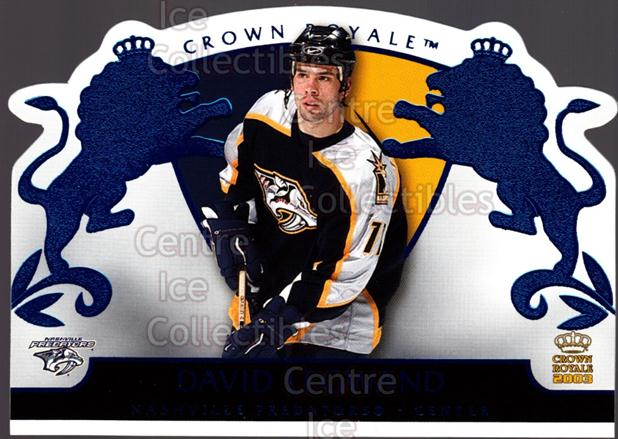 2002-03 Crown Royale Blue #54 David Legwand<br/>2 In Stock - $3.00 each - <a href=https://centericecollectibles.foxycart.com/cart?name=2002-03%20Crown%20Royale%20Blue%20%2354%20David%20Legwand...&quantity_max=2&price=$3.00&code=431698 class=foxycart> Buy it now! </a>