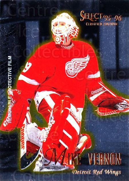 1995-96 Select Certified #42 Mike Vernon<br/>5 In Stock - $1.00 each - <a href=https://centericecollectibles.foxycart.com/cart?name=1995-96%20Select%20Certified%20%2342%20Mike%20Vernon...&quantity_max=5&price=$1.00&code=43171 class=foxycart> Buy it now! </a>