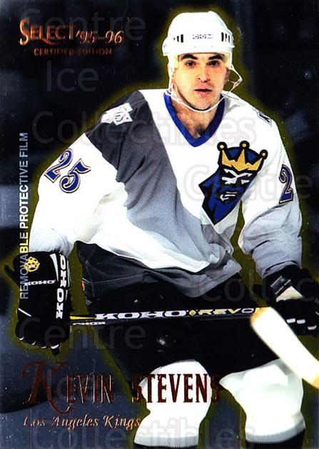 1995-96 Select Certified #46 Kevin Stevens<br/>5 In Stock - $1.00 each - <a href=https://centericecollectibles.foxycart.com/cart?name=1995-96%20Select%20Certified%20%2346%20Kevin%20Stevens...&quantity_max=5&price=$1.00&code=43174 class=foxycart> Buy it now! </a>