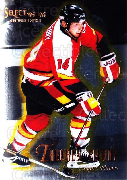 1995-96 Select Certified #5 Theo Fleury<br/>5 In Stock - $1.00 each - <a href=https://centericecollectibles.foxycart.com/cart?name=1995-96%20Select%20Certified%20%235%20Theo%20Fleury...&quantity_max=5&price=$1.00&code=43178 class=foxycart> Buy it now! </a>