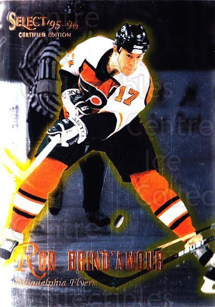 1995-96 Select Certified #59 Rod Brind'Amour<br/>5 In Stock - $1.00 each - <a href=https://centericecollectibles.foxycart.com/cart?name=1995-96%20Select%20Certified%20%2359%20Rod%20Brind'Amour...&quantity_max=5&price=$1.00&code=43188 class=foxycart> Buy it now! </a>