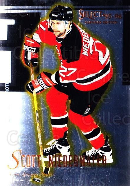 1995-96 Select Certified #70 Scott Niedermayer<br/>5 In Stock - $1.00 each - <a href=https://centericecollectibles.foxycart.com/cart?name=1995-96%20Select%20Certified%20%2370%20Scott%20Niedermay...&quantity_max=5&price=$1.00&code=43199 class=foxycart> Buy it now! </a>