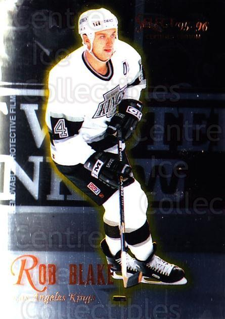 1995-96 Select Certified #74 Rob Blake<br/>5 In Stock - $1.00 each - <a href=https://centericecollectibles.foxycart.com/cart?name=1995-96%20Select%20Certified%20%2374%20Rob%20Blake...&quantity_max=5&price=$1.00&code=43203 class=foxycart> Buy it now! </a>