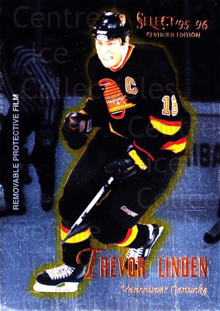 1995-96 Select Certified #87 Trevor Linden<br/>5 In Stock - $1.00 each - <a href=https://centericecollectibles.foxycart.com/cart?name=1995-96%20Select%20Certified%20%2387%20Trevor%20Linden...&quantity_max=5&price=$1.00&code=43215 class=foxycart> Buy it now! </a>