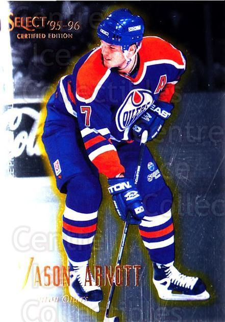 1995-96 Select Certified #9 Jason Arnott<br/>5 In Stock - $1.00 each - <a href=https://centericecollectibles.foxycart.com/cart?name=1995-96%20Select%20Certified%20%239%20Jason%20Arnott...&quantity_max=5&price=$1.00&code=43218 class=foxycart> Buy it now! </a>