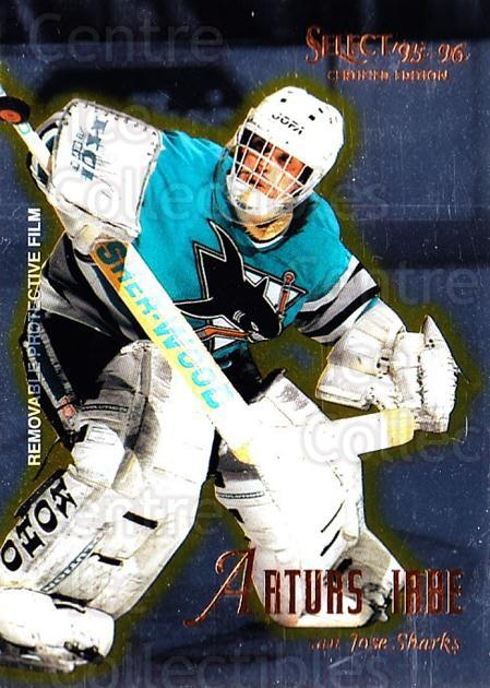 1995-96 Select Certified #91 Arturs Irbe<br/>1 In Stock - $1.00 each - <a href=https://centericecollectibles.foxycart.com/cart?name=1995-96%20Select%20Certified%20%2391%20Arturs%20Irbe...&quantity_max=1&price=$1.00&code=43220 class=foxycart> Buy it now! </a>