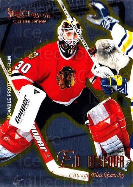 1995-96 Select Certified #93 Ed Belfour<br/>2 In Stock - $1.00 each - <a href=https://centericecollectibles.foxycart.com/cart?name=1995-96%20Select%20Certified%20%2393%20Ed%20Belfour...&quantity_max=2&price=$1.00&code=43222 class=foxycart> Buy it now! </a>