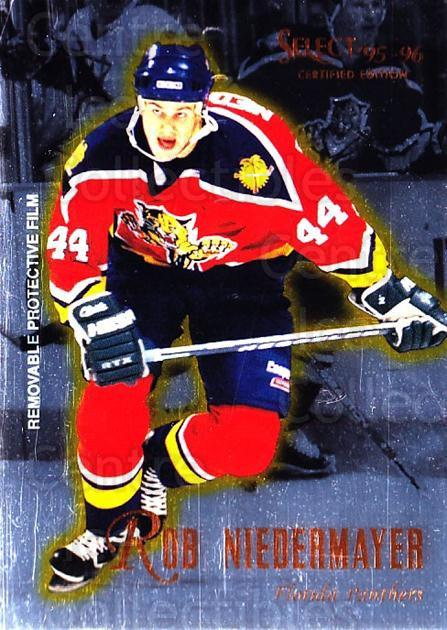 1995-96 Select Certified #96 Rob Niedermayer<br/>5 In Stock - $1.00 each - <a href=https://centericecollectibles.foxycart.com/cart?name=1995-96%20Select%20Certified%20%2396%20Rob%20Niedermayer...&quantity_max=5&price=$1.00&code=43224 class=foxycart> Buy it now! </a>