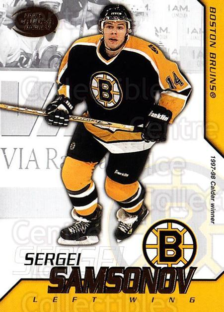 2002-03 Pacific Calder #9 Sergei Samsonov<br/>8 In Stock - $1.00 each - <a href=https://centericecollectibles.foxycart.com/cart?name=2002-03%20Pacific%20Calder%20%239%20Sergei%20Samsonov...&quantity_max=8&price=$1.00&code=432344 class=foxycart> Buy it now! </a>